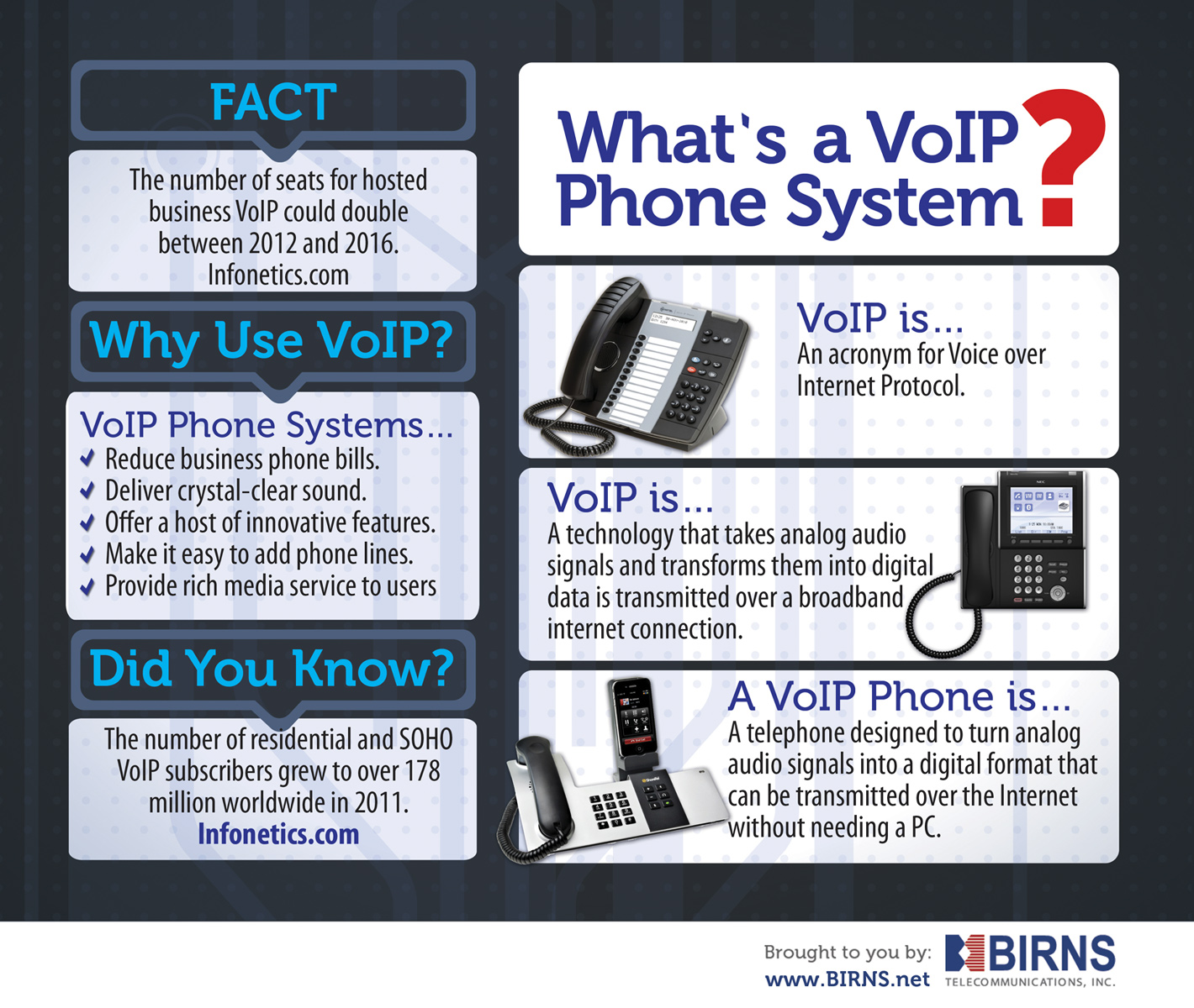 VoIP Phone Systems Infographic: What is a VoIP Phone?
